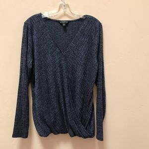 Rock & Republic Long Sleeve Blue Light Knit Top